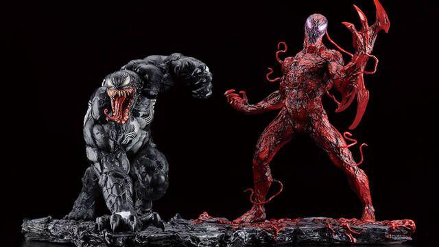 Dos simbiontes, por favor: Venom y Carnage se lucen en las nuevas estatuas de Kotobukiya