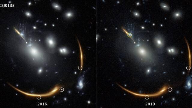 Una supernova desaparecida volverá gracias a una lente gravitacional