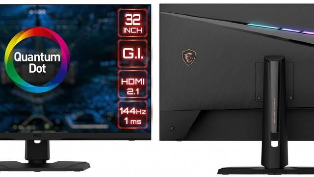 MSI presenta su nuevo monitor Quantum Dot para PC, PS5 y XSX/S: 4K, 144 Hz y HDMI 2.1
