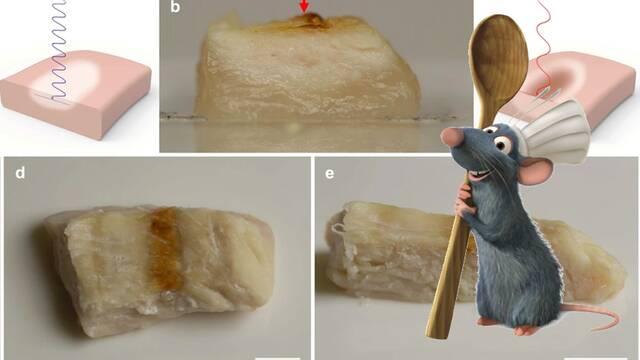 Estos ingenieros han sido capaces de cocinar pollo impreso en 3D con un láser