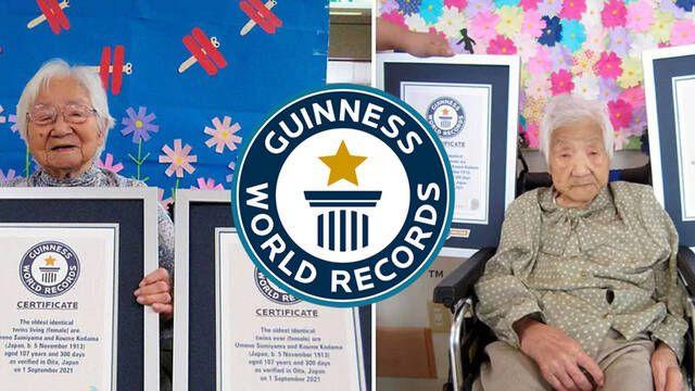 Dos gemelas japonesas de 107 años entran en el Libro Guinness de los Récords