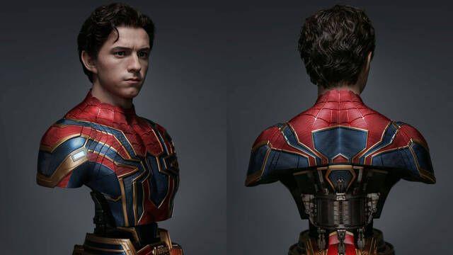 Tom Holland protagoniza un busto increíblemente realista de Spider-Man