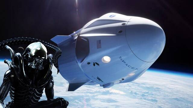 Un 'xenomorfo' de Alien se coló en la misión espacial de SpaceX