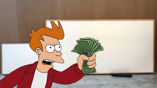 Artista recibe 84.000 dólares para crear una obra y entrega dos lienzos en blanco