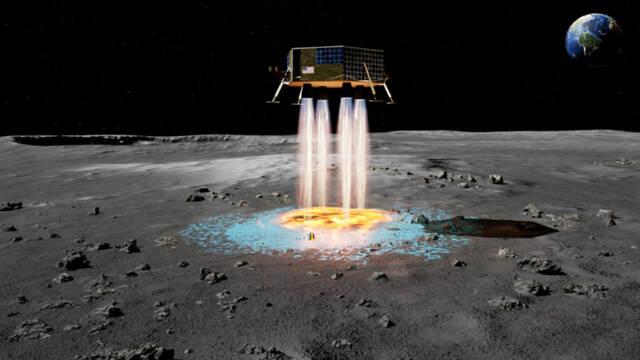 Desarrollan unos potentes propulsores capaces de crear una zona de aterrizaje en la Luna
