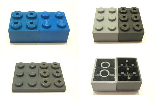 Piezas de Lego y TEnte
