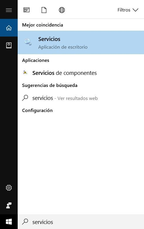 Servicios Windows 10