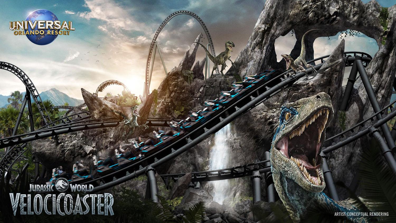 Así será VelociCoaster, la primera montaña rusa de Jurassic Park